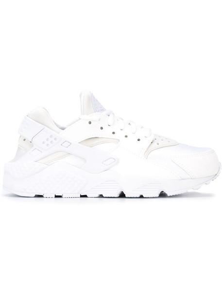 Nike women run sneakers leather white shoes