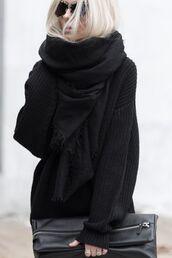 scarf,zara,cotton,black,black scarf,all black everything