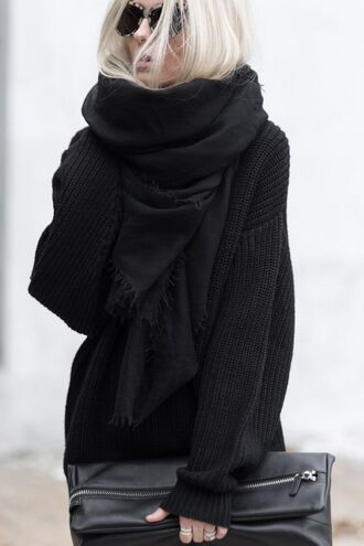 scarf zara cotton black black scarf all black everything