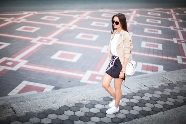 fashion agony coat skirt t-shirt shoes bag jewels sunglasses