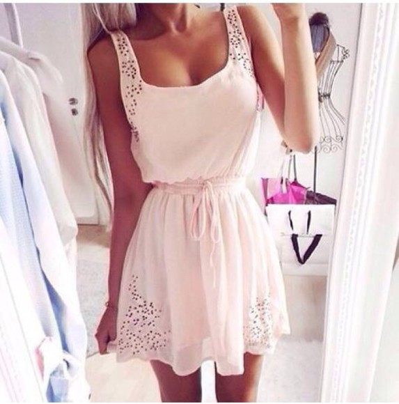 short dress sexy dress style fashion classy party party dress white dress lace dress prom dress bodycon dress lace up beige hot summer dress summer outfits sleeveless dress short sleeve denim beige dress streetwear streetstyle