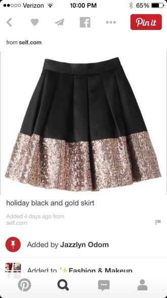 gold sequins black