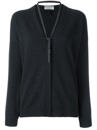cardigan women silk wool grey sweater