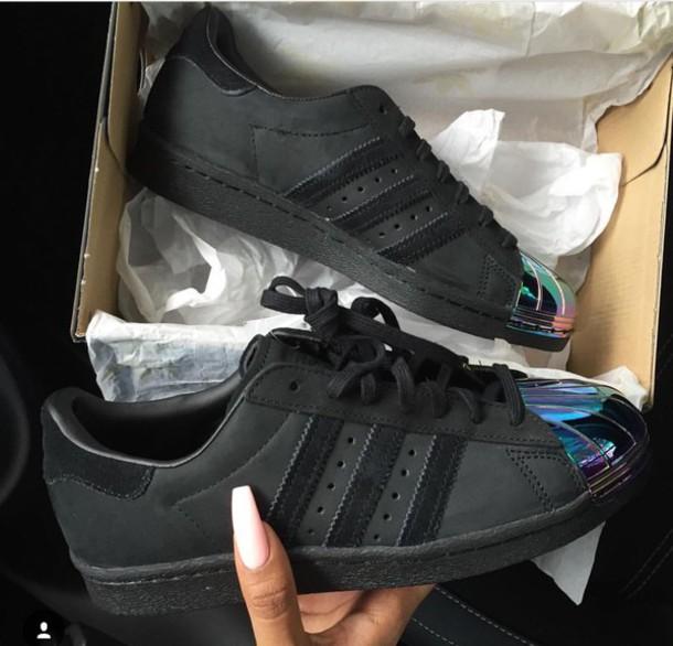 adidas superstar black chrome