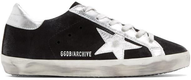Golden goose sneakers suede black shoes