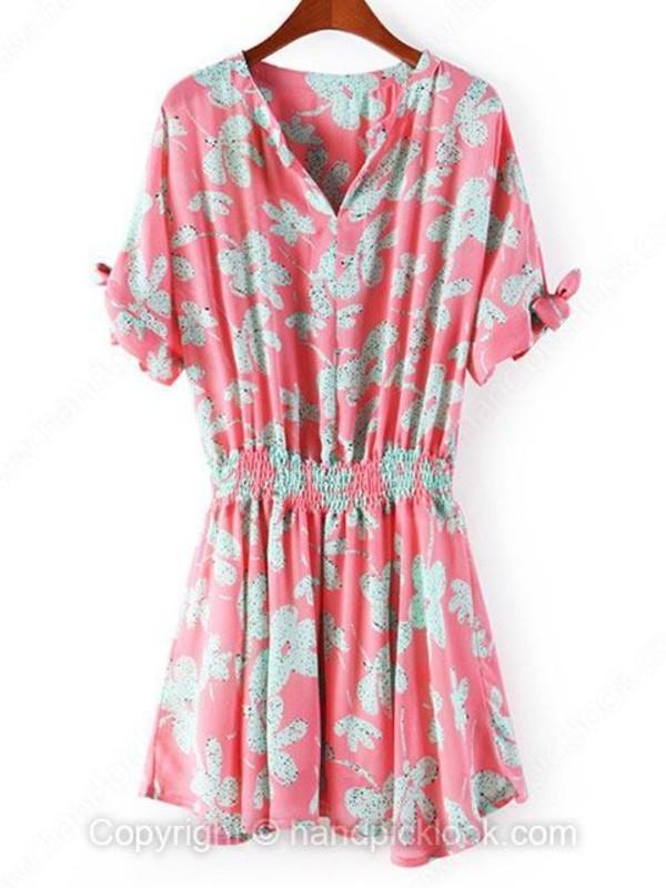 dress boho chic print dress floral dress floral floral dress pink dress pink print bohemian dress