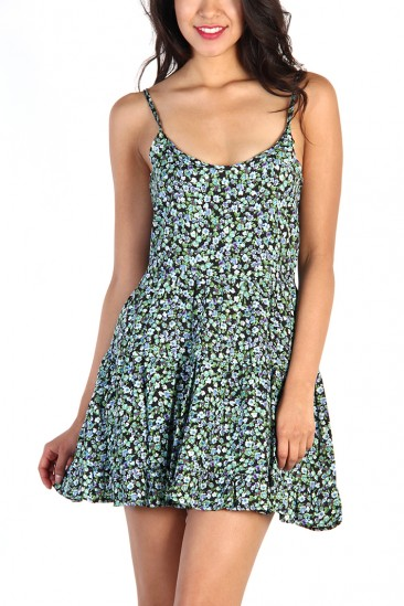 LoveMelrose.com From Harry & Molly | Floral Everyday Dress - Green