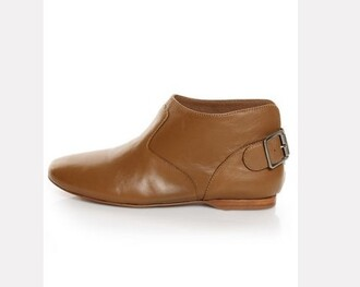 shoes boots booties brown boots ankleboots