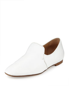 THE ROW Alys Leather Slipper Flat