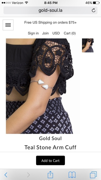 jewels arm cuff teal bracelets accessories