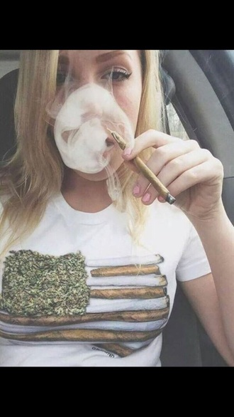 shirt weed marijuana white