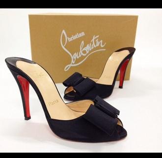 shoes black heels satin pumps high heels