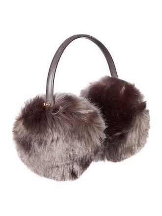 hat ear cuff earmuffs winter outfits faux fur ted baker