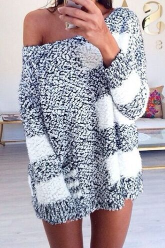 sweater white grey fluffy soft comfy slouchy