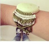jewels,bracelets,boho,festival,festival bracelet,green and white