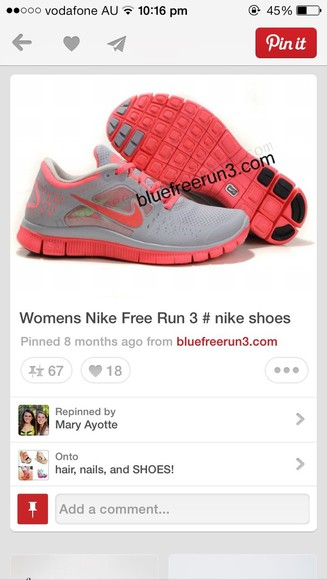 shoes nike free runs women's