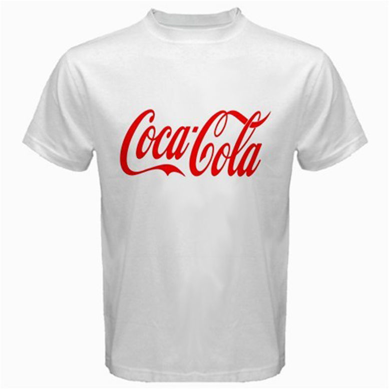 """ Coca Cola "" Logo New White T Shirt 