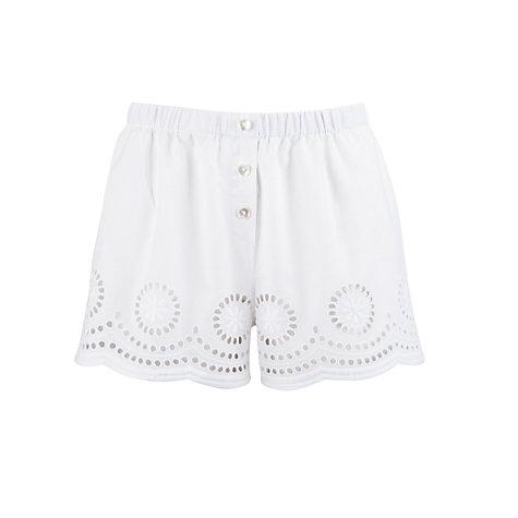 Buy john lewis classic cutwork pyjama shorts, white online at john lewis