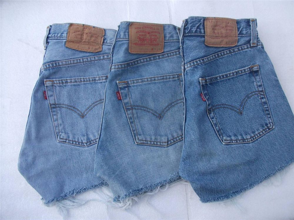 Levi High Waisted Shorts Grade A Vintage Denim Womens Stone Wash Hotpant S XL | eBay
