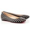 Christian louboutin ballerinas gozul nappa spikes flat shoes black,gozul spikes
