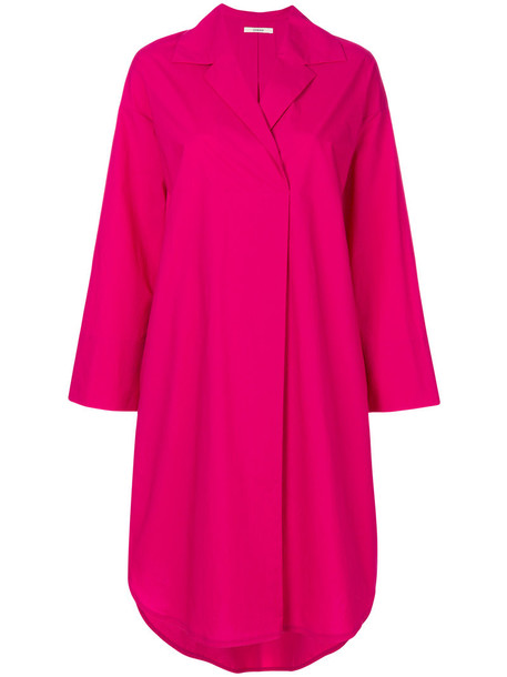 Odeeh dress shirt dress women cotton purple pink
