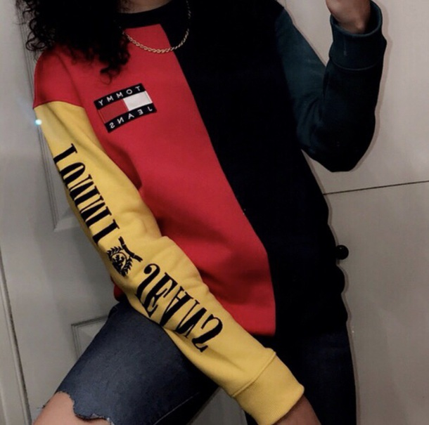 c694cd9d sweater, red, green, yellow, black, tommy hilfiger, tommy jeans ...