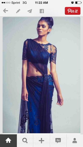 native american sari saree india see through sheer international fashion