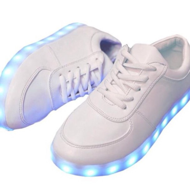 shoes white lightup tumblr glow in the dark teenagers aesthetic