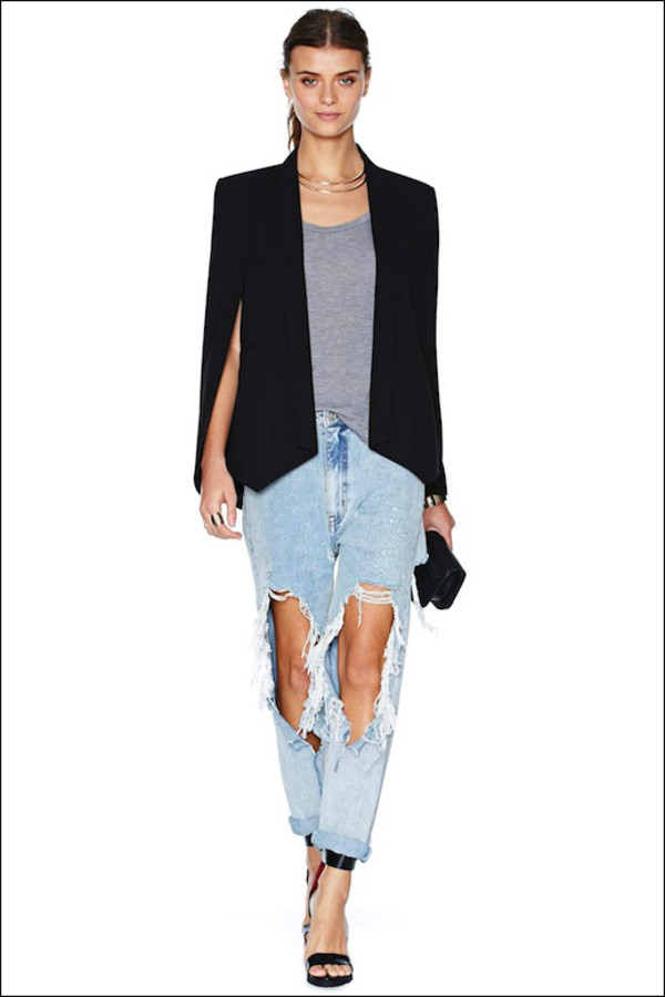 le fashion image jacket jewels t-shirt jeans shoes