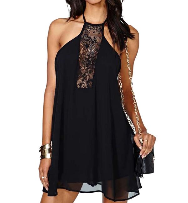 dress black dress see through dress mini dress stylemoi elegant drss