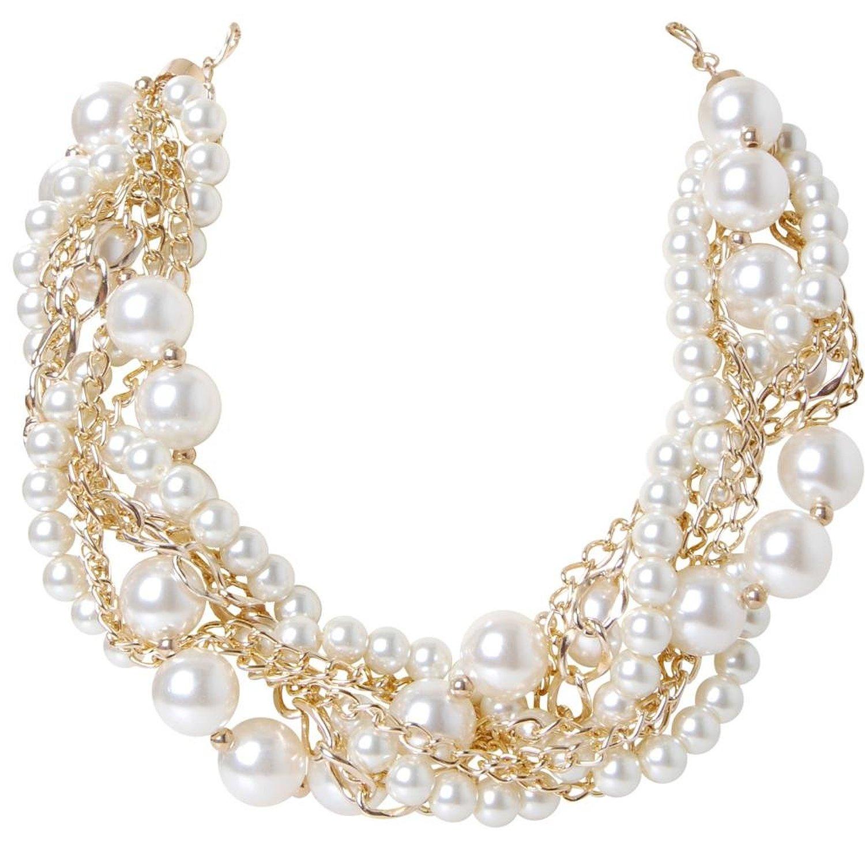 Amazon.com  Humble Chic Women s Twisted Pearl Necklace - Multi ... 3b9e7e3c0e0f