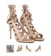 heels,high heels,lace up,lace-up shoes,lace up heels,nude high heels,nude sandals,nude heels