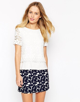 top white lace lace top