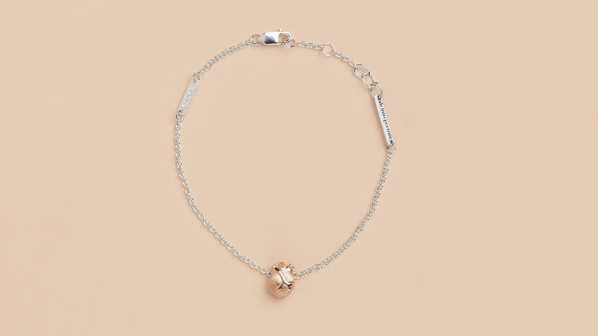 BJØRG - Rose Gold Heart / Bracelet