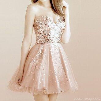 dress gold golden sparkle sparkle dress short dress sequin rose gold