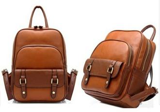 bag tan leather bag backpack buckle backpack leather backpack