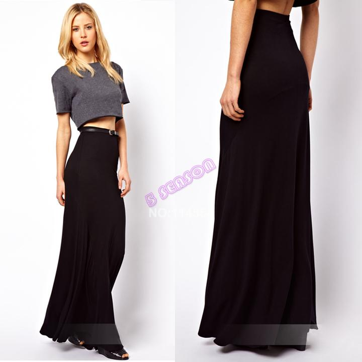 black maxi skirt high waisted www pixshark images
