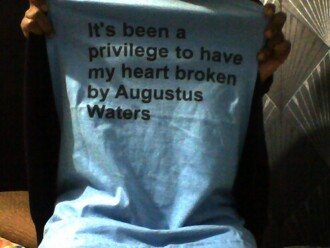 t-shirt john green augustus waters tfois the fault in our stars