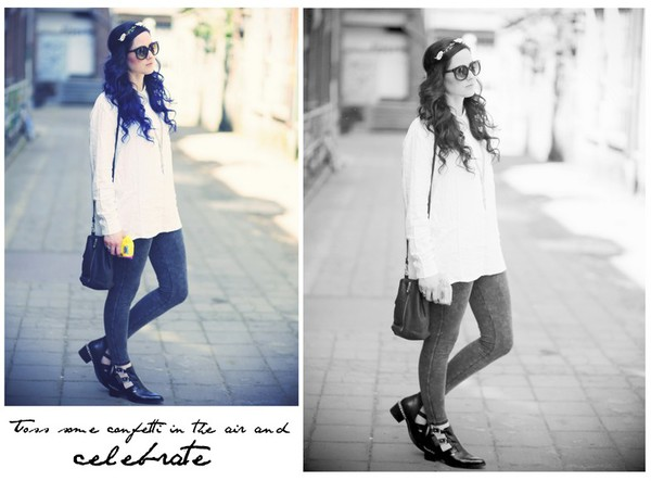 like a riot blouse bag jewels shoes sunglasses