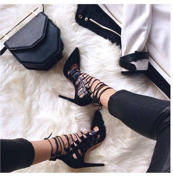 shoes heels black shoes black heels all black everything style pumps fashion clean look spring leather jacket classy girl night out shoes night out with the girls cool Aquazzura pumps high heels black