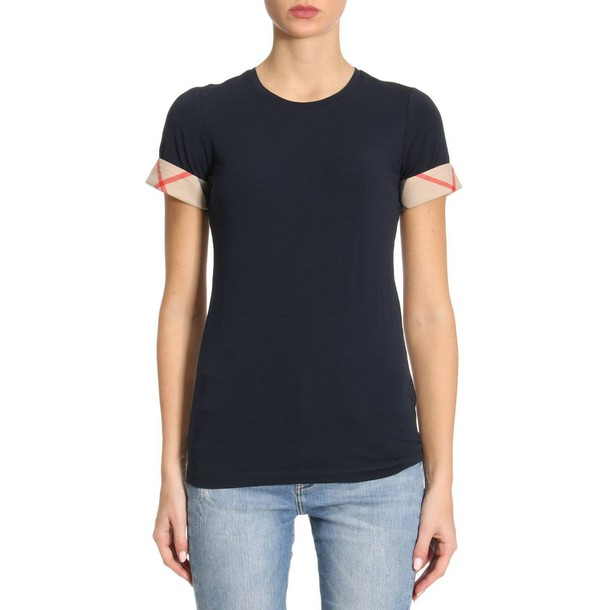Burberry t-shirt shirt t-shirt women blue top