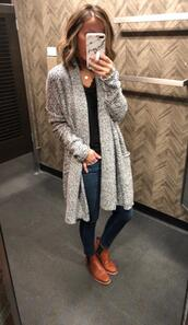 lilly's style,blogger,coat,sweater,shoes,grey cardigan
