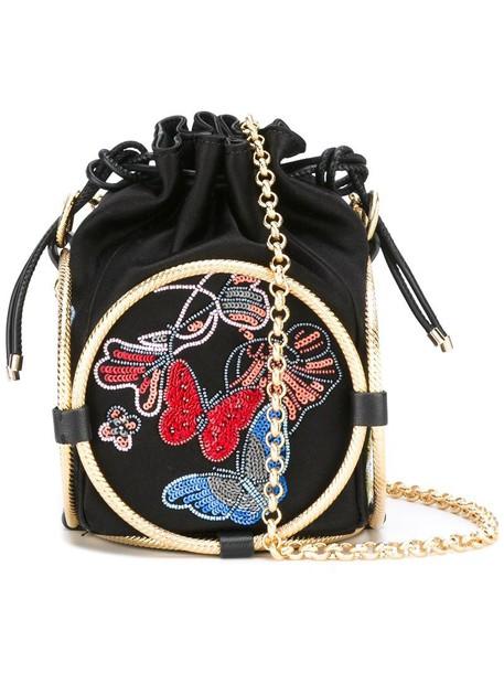 women beaded bag shoulder bag black