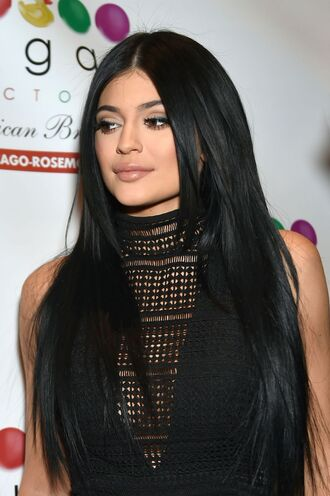 top black fashion kylie jenner plunge v neck kardashians kendall and kylie jenner kendall and kylie collectionn clothes black blouse