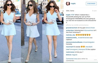 dress baby blue short dress summer dress instagram pastel elizabeth gillies fashion amazing streetstyle victorious