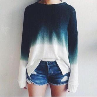 sweater ombre sweater blue sweater