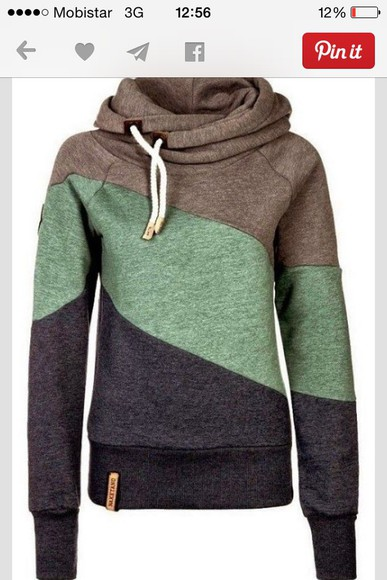 fashion green sportswear sweater fall outfits fall sweater naketano