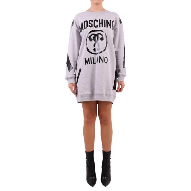 Moschino dress sweatshirt dress cotton grey