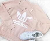 sweater,adidas,pink,white