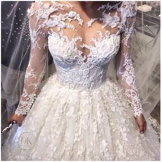 dress wedding dress lace dress lace wedding dress white dress white lace dress prom dress long prom dress patterned dress